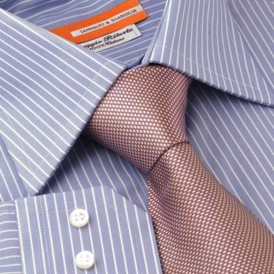 Koszula niebieska Rigato Celeste M12 N° 4/1 Slim-fit