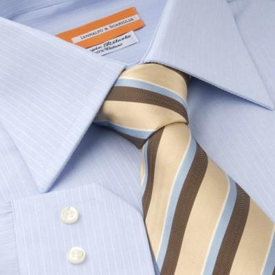Koszula niebieska Rigato Celeste M12 N°2 Slim-fit
