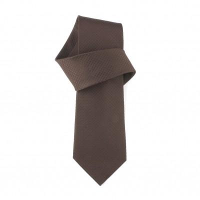 Jedwabny krawat brązowy Nº29