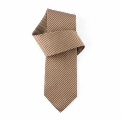 Jedwabny krawat brązowy Nº33