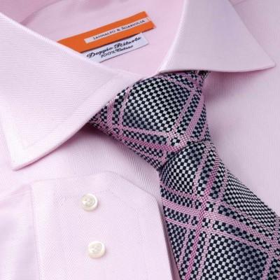 Koszula  różowa Spigato Rosa M21 N° 9/6 Slim-fit