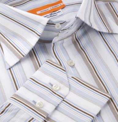 Koszula w paski Fantasia M06 N° 4721 Slim-fit