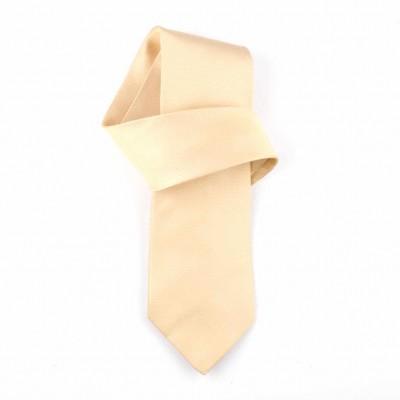 Jedwabny krawat żółty Nº26