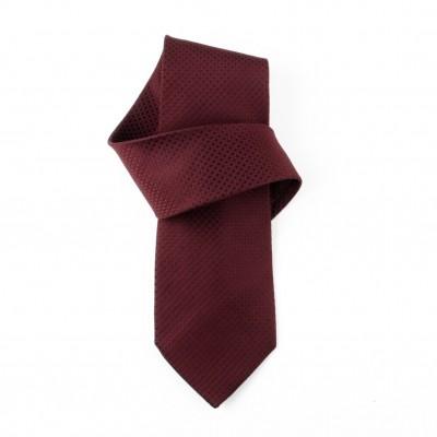 Jedwabny krawat bordowy Nº18