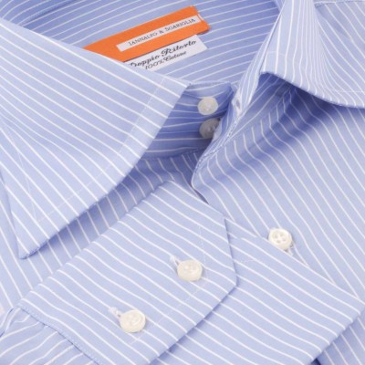 Koszula niebieska  Rigato Celeste M06 N° 4/1 Slim-fit
