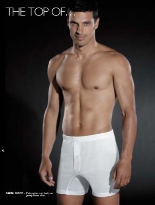 Białe bokserki męskie Paros C Bianco