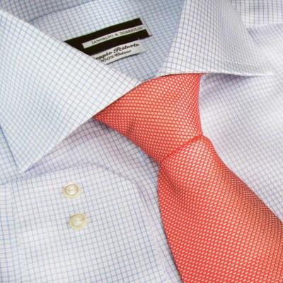Koszula niebieska Quadretti Celeste Diamond Twill M19 N°7019/2