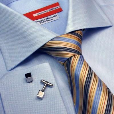 Koszula niebieska Celeste Armaturato M21 N° 300/5050 Slim-Fit