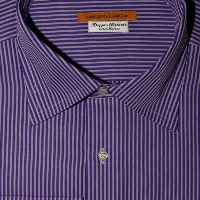 Koszula niebieska w paski slim-fit M06 nr 38