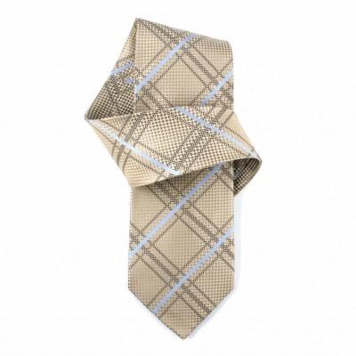 Jedwabny krawat popielato-niebieski Nº2